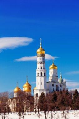 Moscow Kremlin, Ivan Velikogo's belltower in the spring