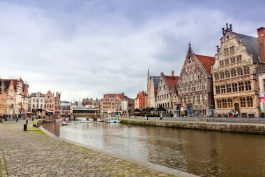 Views of the historical downtown Ghent, Belgium.