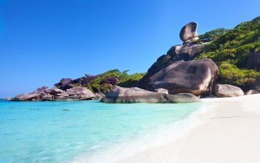 Beautiful view of the rock Sail on Similan, Thailand