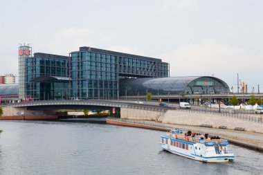 The central station in Berlin, Germany.
