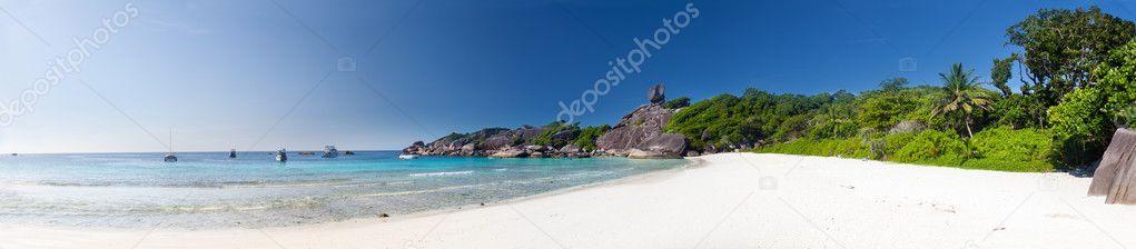 Panorama of a beach