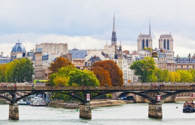 Seine Embankment in Paris, France