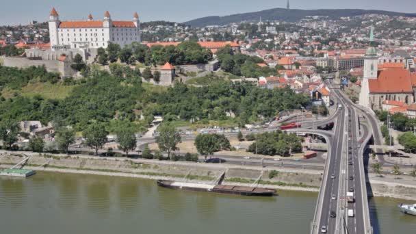 pohled na starý hrad v Bratislavě