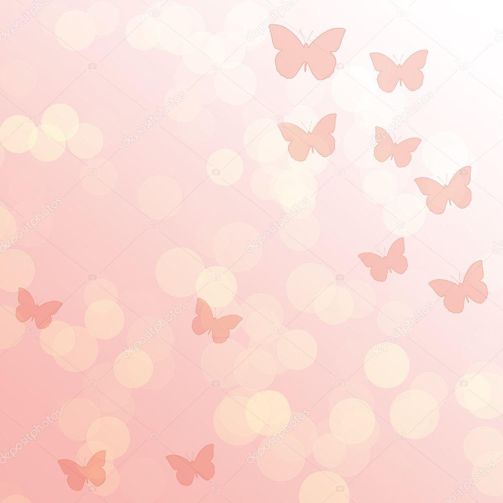 Sfondo Astratto Sfumatura Rosa Con Farfalle Foto Stock Lenorlux