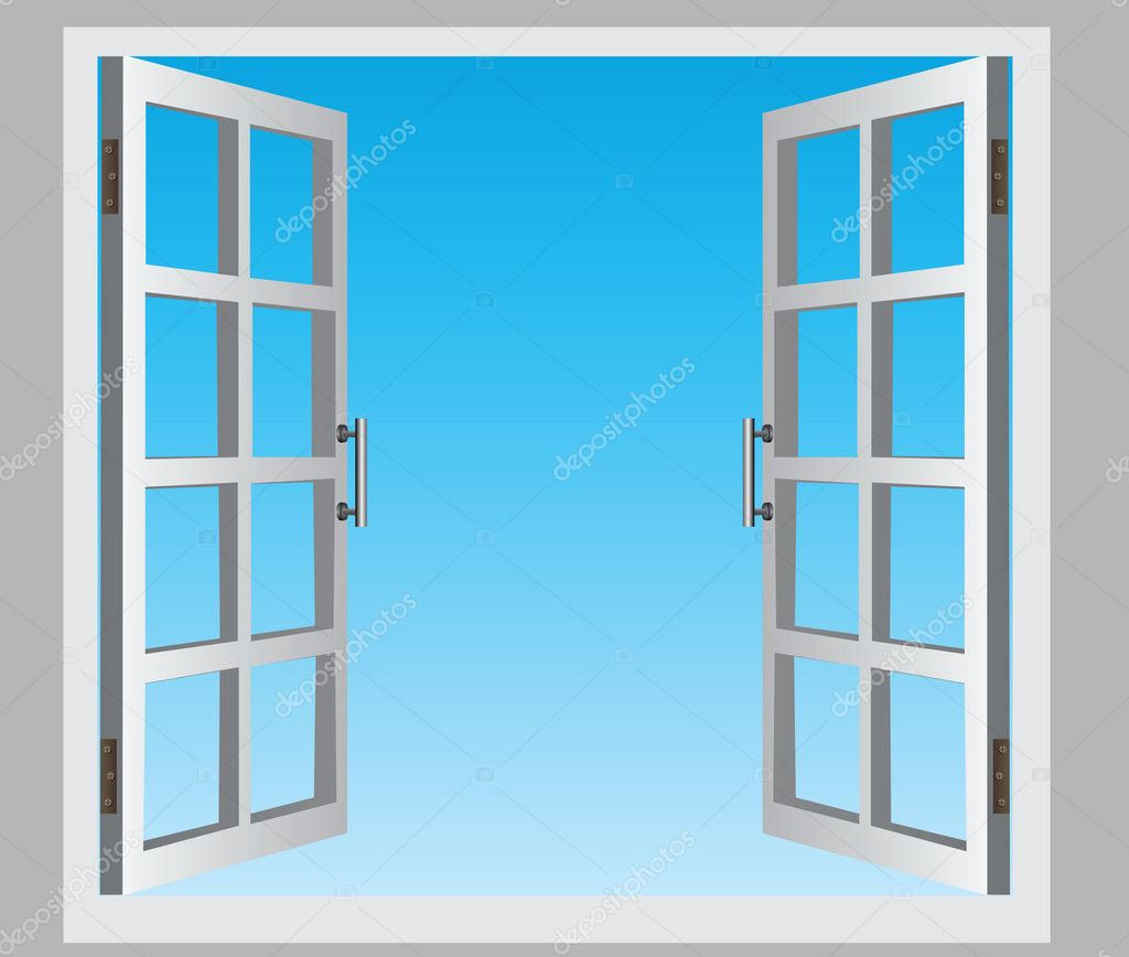 Open window stock vector vipdesignusa 12538953 for Window design cartoon