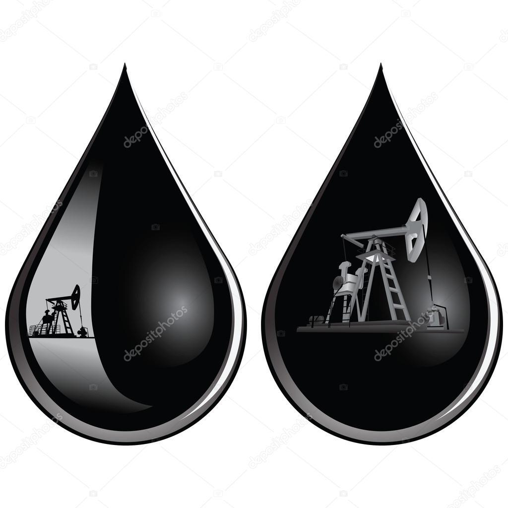 Днем, капля нефти открытка