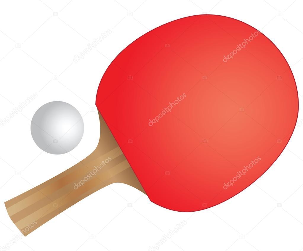 c3bea1583 Raquete e bola de pingue-pongue. ténis de mesa. ilustração vetorial — Vetor  por ...