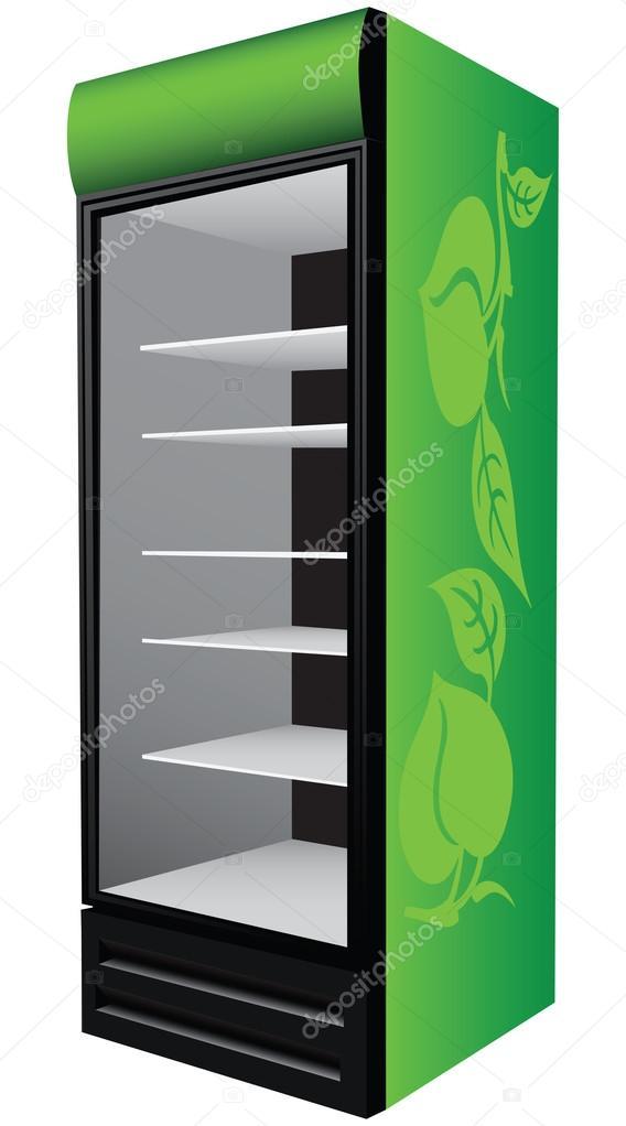 Greenl refrigerator showcase