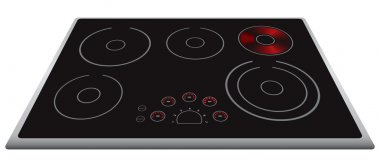 Modern electric stove