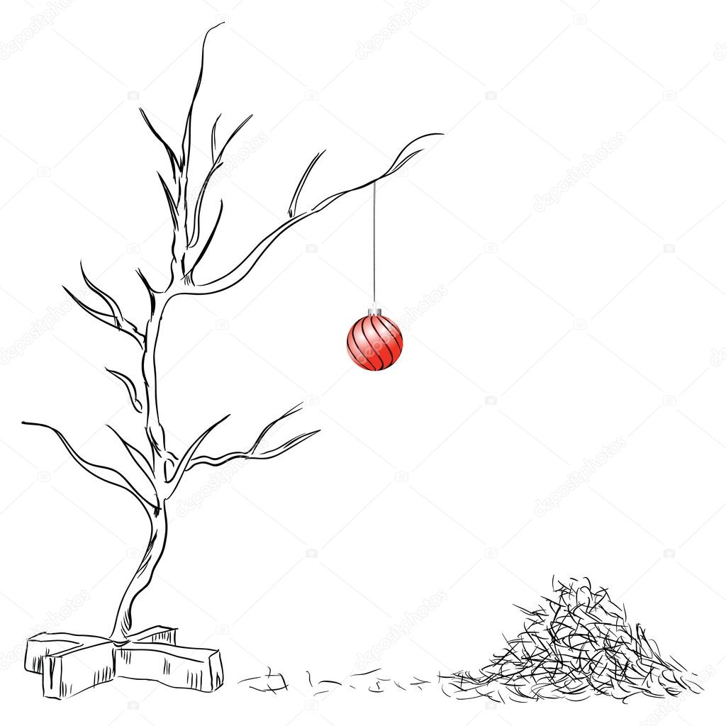 Lonely Christmas ball