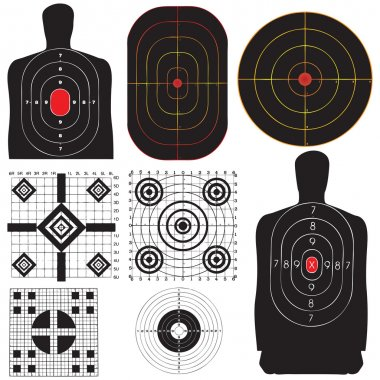 A professional set targets for training. Vector illustration. stock vector