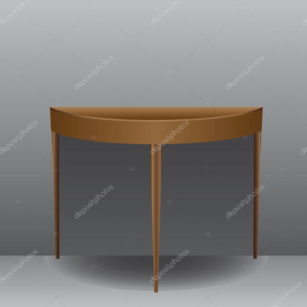 Half Oval Table U2014 Stock Vector #46399047