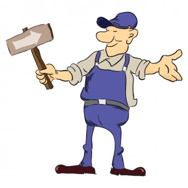 Road worker with pointer