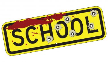 Bloodied road sign