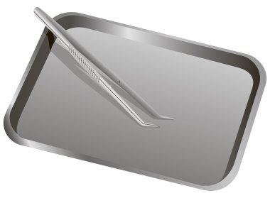Medical Forceps metal tray