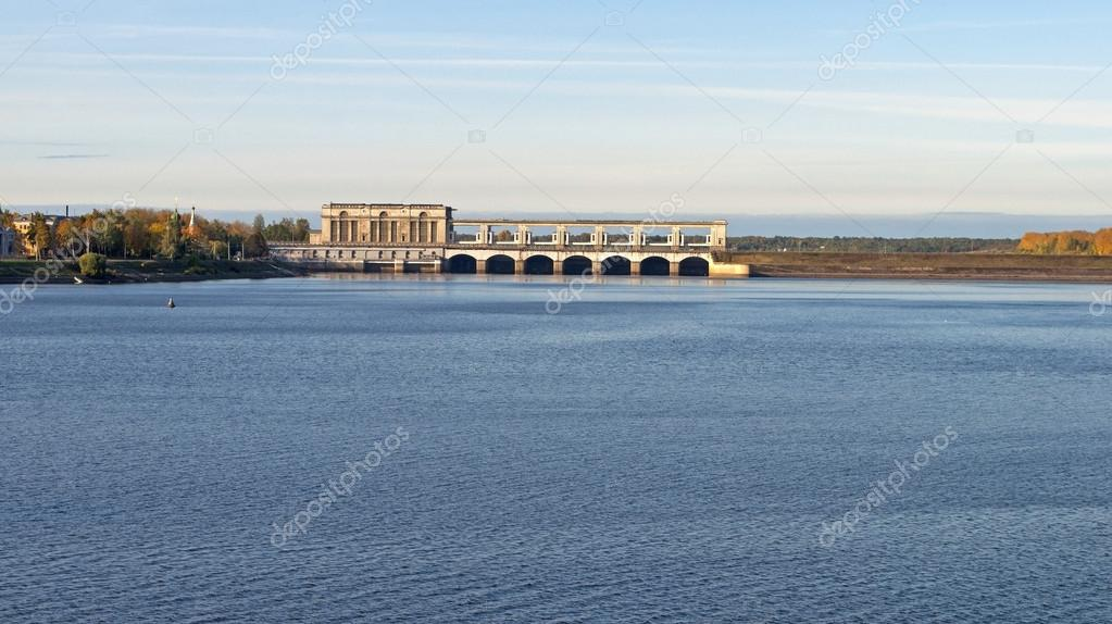 Uglich hydroelectric power plant on the Volga