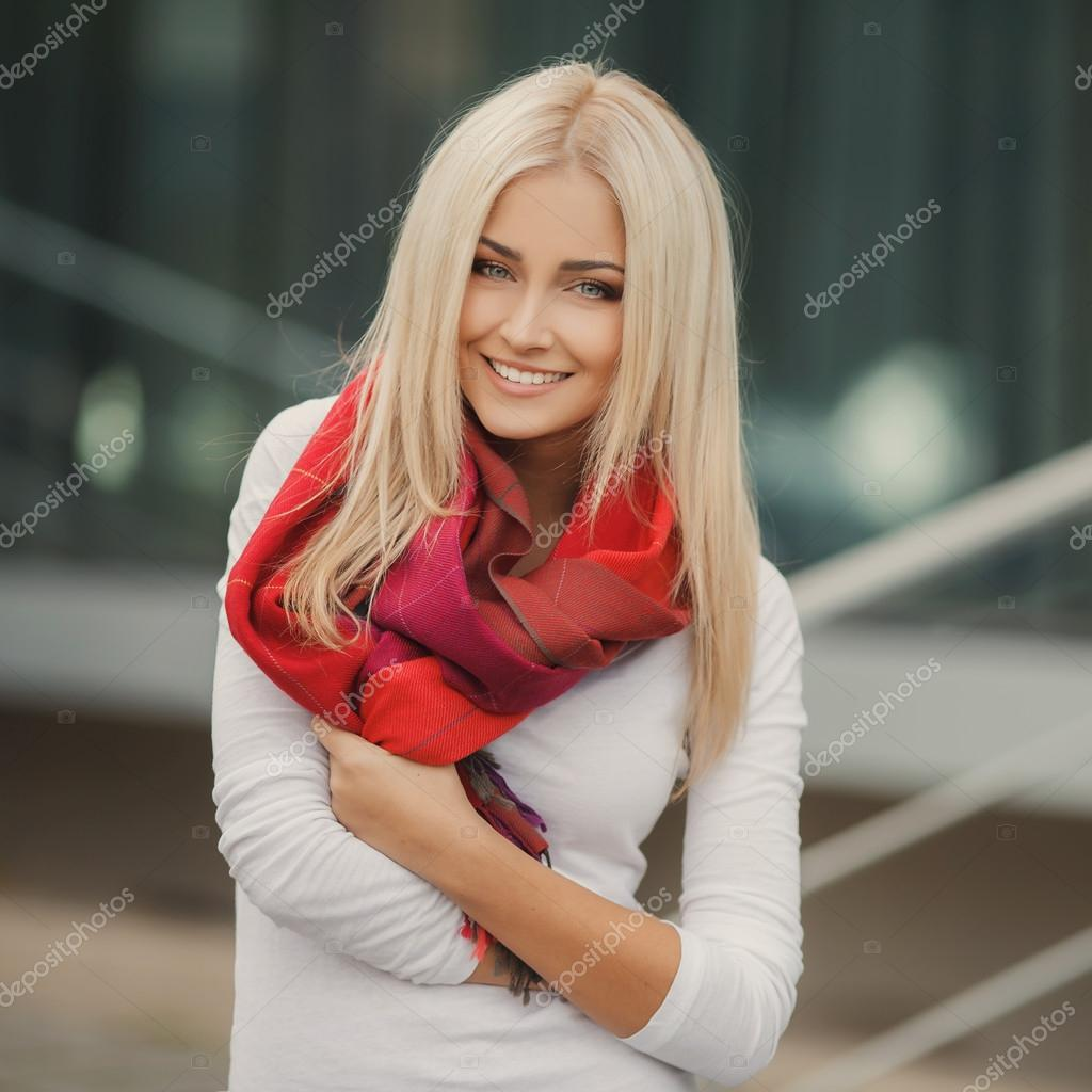 Portrait Of A Beautiful Young Blonde Dressed Stylishly