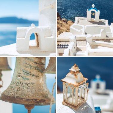 Amazing Santorini - artwork in retro style