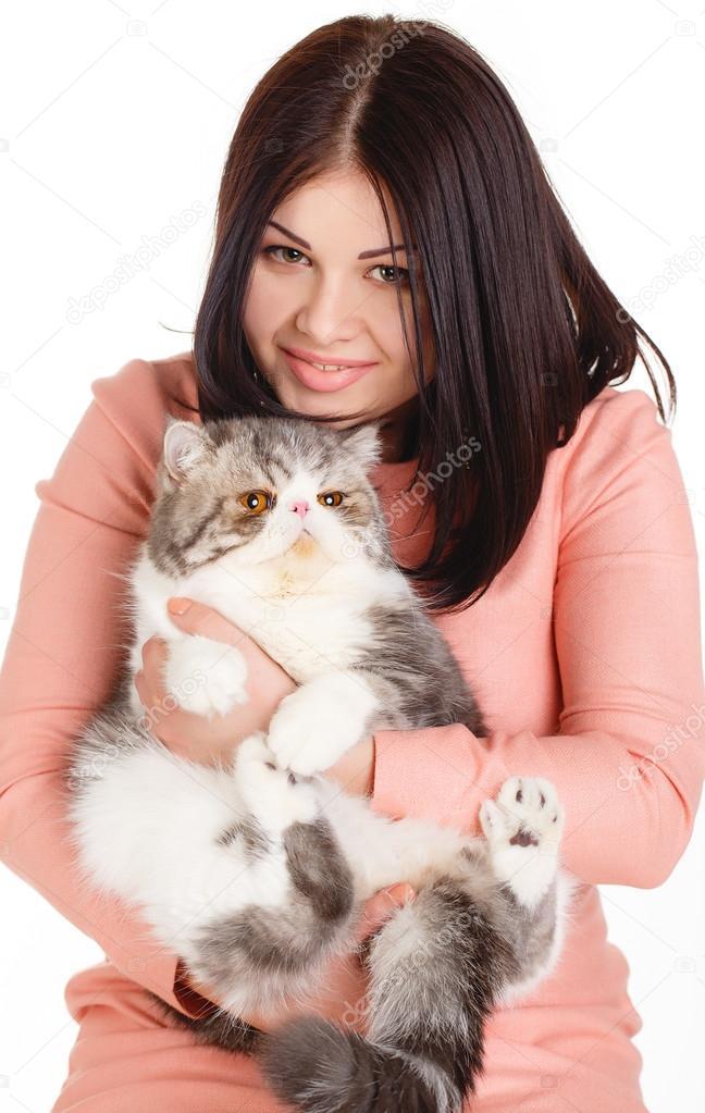 velká kočička brunetka