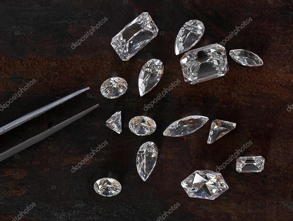 diamonds and tweezers
