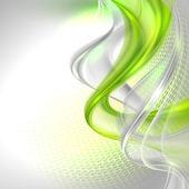 Hullámzó zöld elem háttér absztrakt szürke