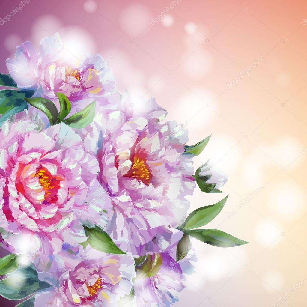 Цветы пионы фон