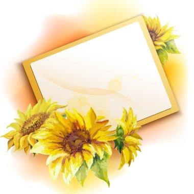 Sunflower frame background
