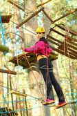 Girl engaged climbing