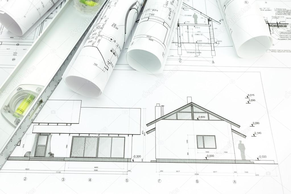 Architect plans Stock Photo MrTwister 43670007