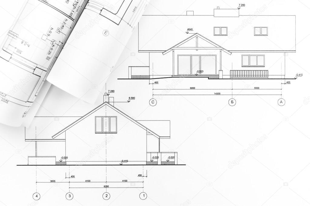 Architektonische Zeichnen Stockfoto Mrtwister 43670139