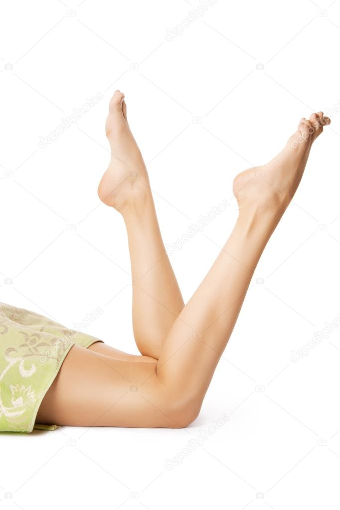 Beautiful legs after waxing