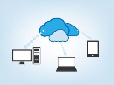 Cloud Drive Vector Illustration