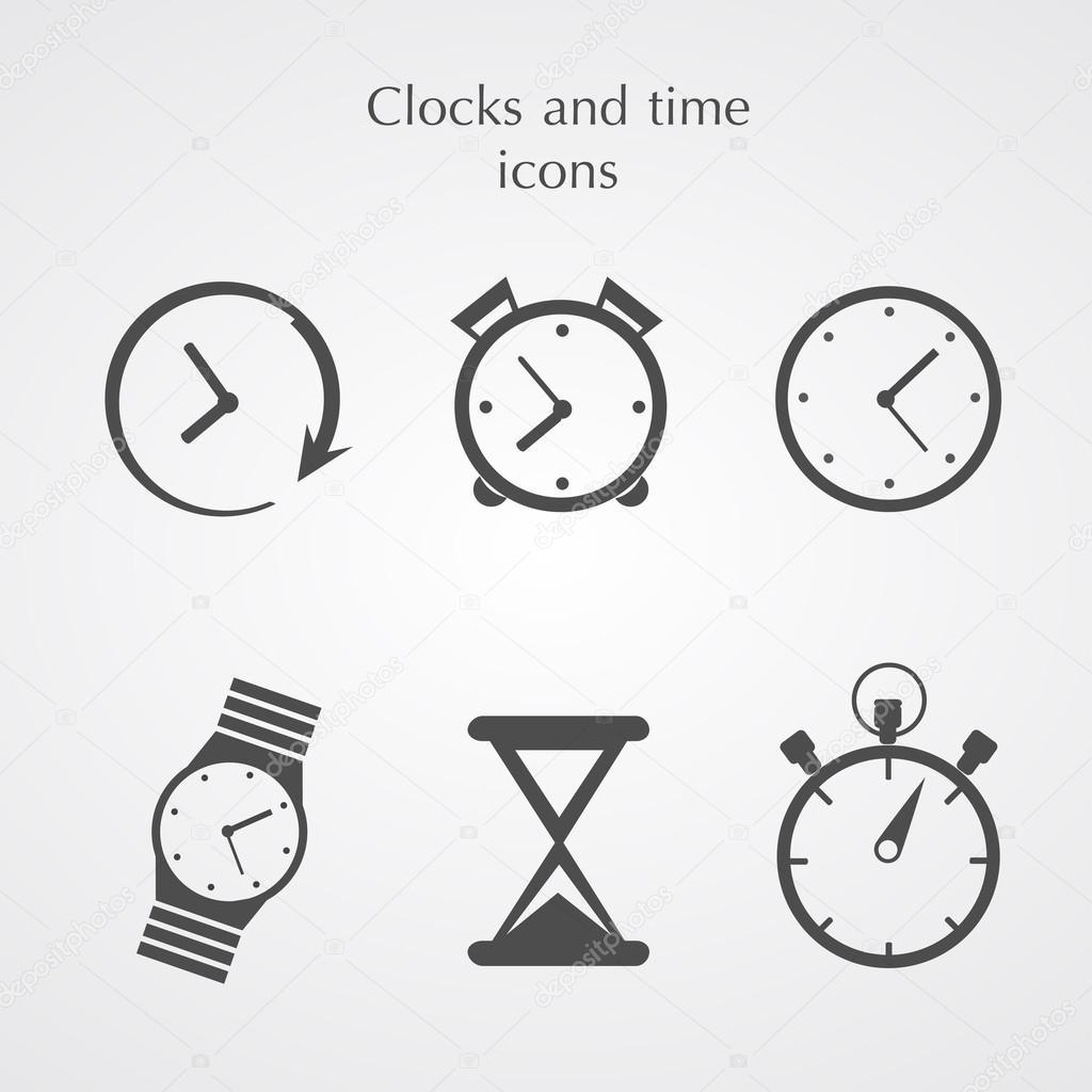 Uhren-Symbole — Stockvektor © Olegro #49755375