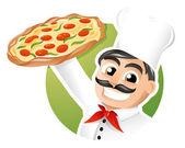 Fotografia pizzaiolo chef