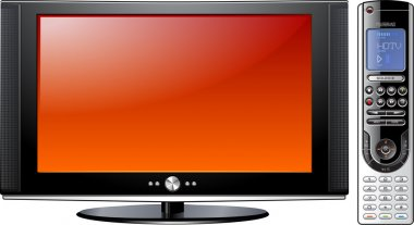 Modern Flat Plasma LCD LED TV with Remote Control