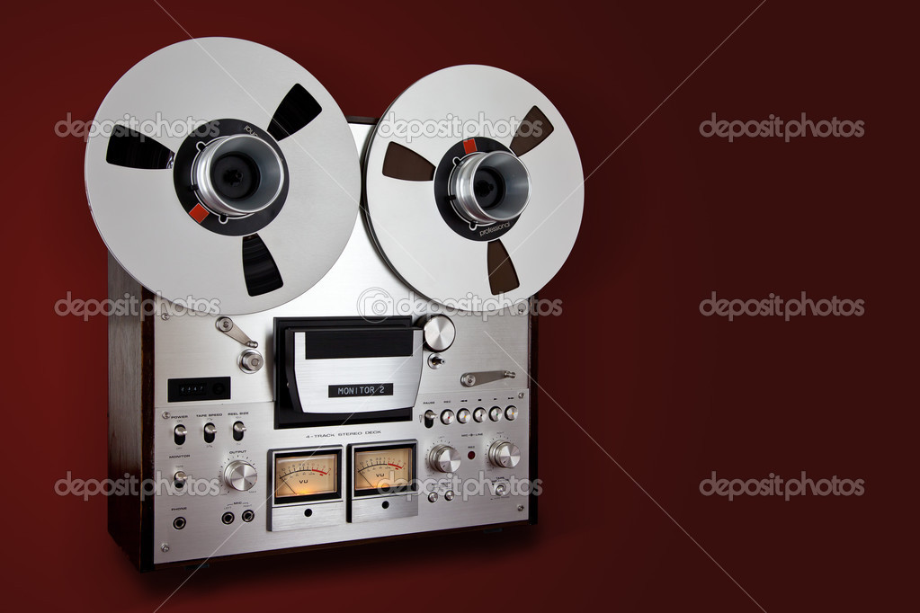 efd14a28bd9e Analog Stereo Open Reel Tape Deck Recorder Vintage Device — Photo by ...