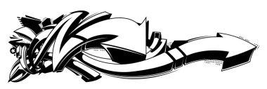 Black and white graffiti background
