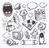 Photo Set of hand drawn elements