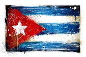 Fotografie Kuba grunge vlajka