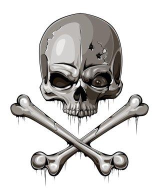skull bone sign represent danger or poison