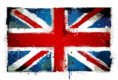 Grungy UK flag. EPS 8 vector illustration.