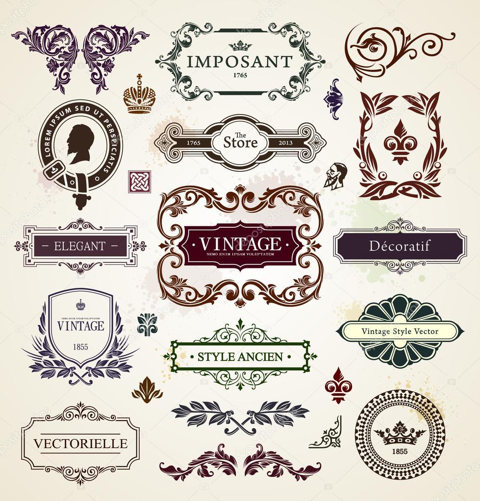 Elementi di design vintage vettoriali stock vecster for Elementi di design