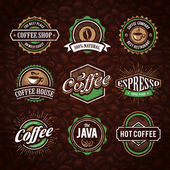 Fotografie Retro Styled Coffee Emblems