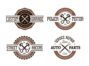 Retro Styled Auto Emblems