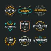 Fotografie Vector Hipster Emblems