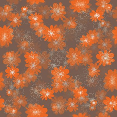 Flowers seamless background