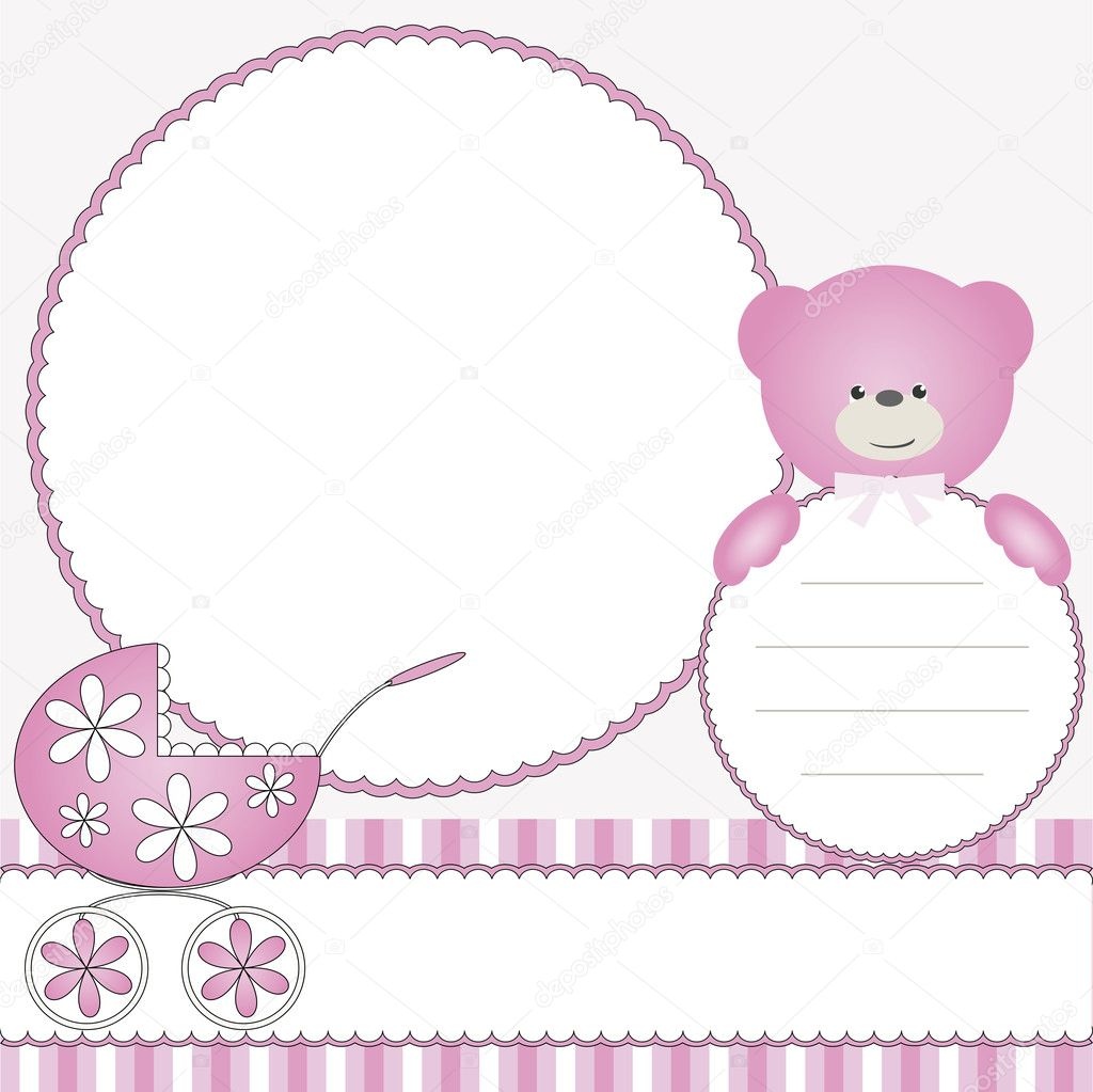 babies girl pink background � stock vector 169 fotodddelli