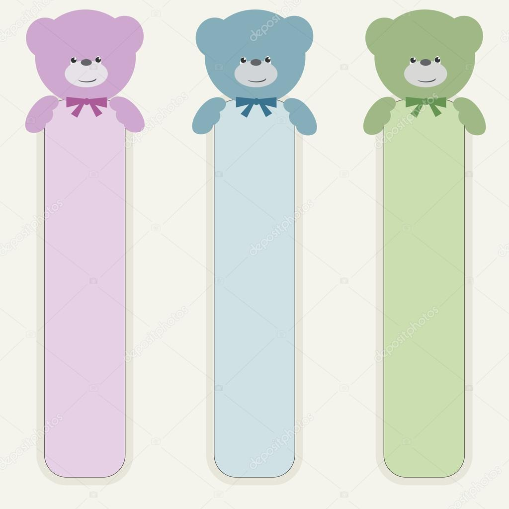 Bear teddy with vertical banner