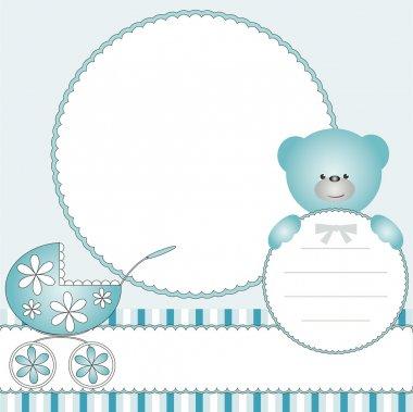 Babies blue background
