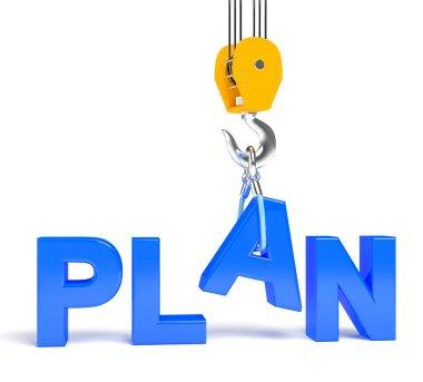 Render illustration of word plan